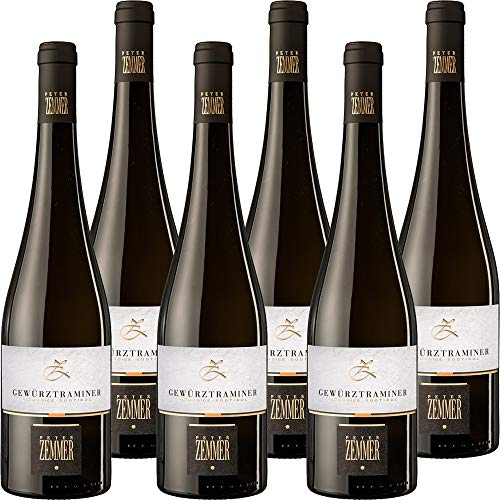 Gewurztraminer DOC | Peter Zemmer | Vino Bianco Alto Adige | Vino Tipico Altoatesino | Confezione 6 Bottiglie da 75 Cl | Idea Regalo