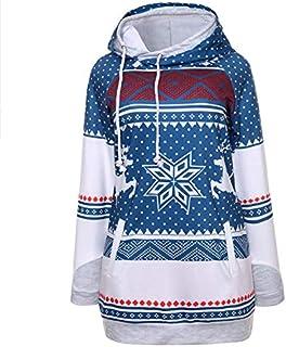SDJYH, suéter de Navidad para Mujer, Otoño Invierno, suéter Acanalado de Punto, Jersey con Cuello Redondo, Jersey cálido y...