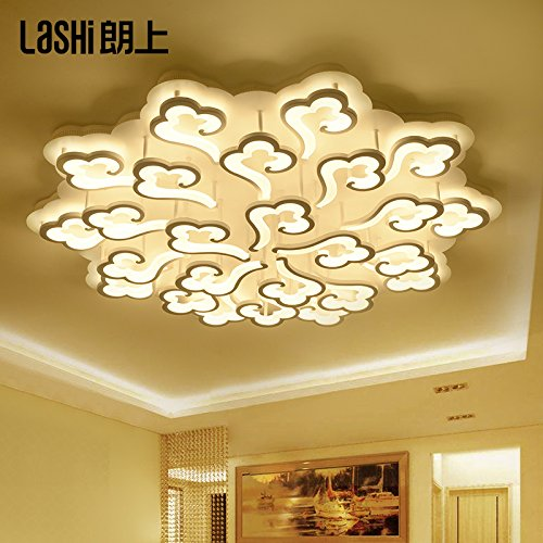 lemumu Led luce di soffitto minimalista sala soggiorno lampade luce e atmosfera accogliente camera da letto lampade a luce,25 e 120cm bianco 180W