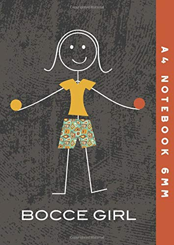 A4 Notebook 6mm: Bocce Girl Lined Exercise B