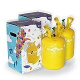 Pack 2 Bombonas de Helio para Globos (para 60 globos de latex no incluidos)