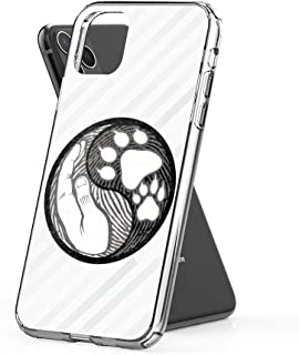 Case Phone Dog Paw Hand Yin Yang Cute Animal Rescuers (6.5-inch Diagonal Compatible with iPhone 11 Pro Max)