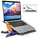 TopMate Soporte para computadora portátil con Base giratoria de 360 ° Elevador portátil para computadora portátil, Altura Ajustable Inferior Mejorada, Soporte Plegable para computadora portátil