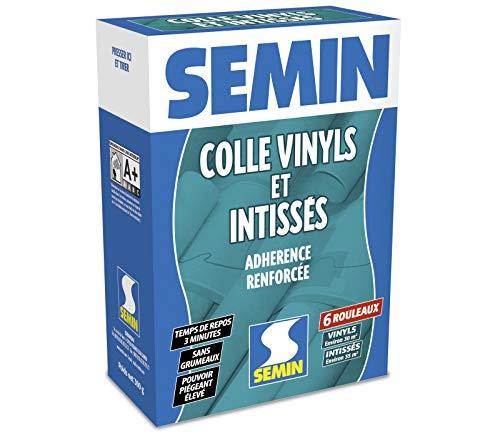 Semin A05620 Colle en Poudre pour Papiers Peints Vinyls et Intissés, Intérieur, Boite de 300 g