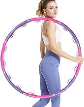 DUTISON Fitness volwassene hoepel voor gewichtsvermindering hoepel met schuimrubberen gewichten instelbaar breedte 48 - 88...