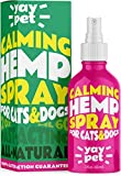 YAY PET Calming Spray for Cats and Dogs with Pheromones & Natural Herbs - Reduce Anxiety, Relax. Vet Visits, Travel, Thunder Relief and More.