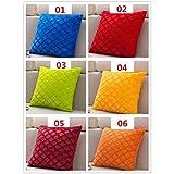 HELLOYOUNG Short Plush Cushion Hug Pillowcase Solid Color Pillow Cushion Cover Pillow Cover Cojines Decorativos para Sofa Capa De Almofada (08)