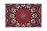 Excelsa Mandala Rosso Zerbino Ingresso, Fibra di Cocco, 40 x 60 cm