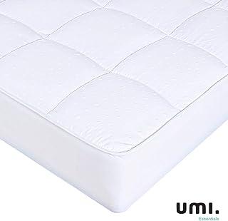 UMI. Essentials Funda colchón de Microfibra y poliéster, Soft Touch,Blanco -90x200 cm