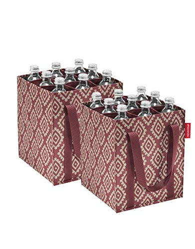 reisenthel Flaschenträger bottlebag Flaschentasche (Diamonds Rouge, 2 er Pack)