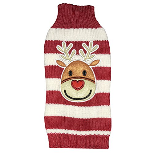 NACOCO Dog Reindeer Sweaters Dog Sweaters New Year Christmas Pet Clothes for Small Dog and Cat (Medium)