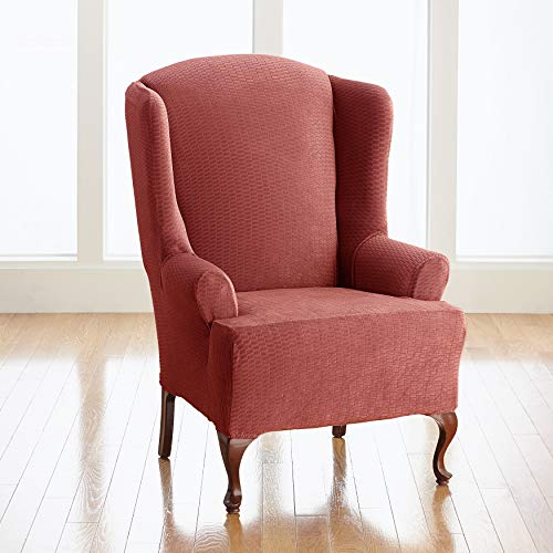 BrylaneHome BH Studio Brighton Stretch Wing Chair Slipcover, Marigold