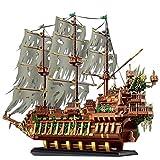 LesDiy Barco pirata con bloques de montaje, Mould King 13138 The Flying Dutchman Maqueta compatible con Lego – 3653 piezas