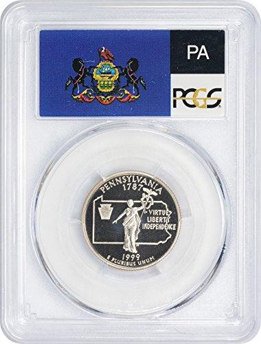 1999-S Pennsylvania State Quarter, PR70DCAM, Clad, PCGS