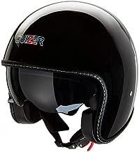 Casco homologado para scooter moto Jet negro mate con calota exterior de fibra visera parasol extra/íble interiores hipoalerg/énicos y transpirables L Negro CRUIZER