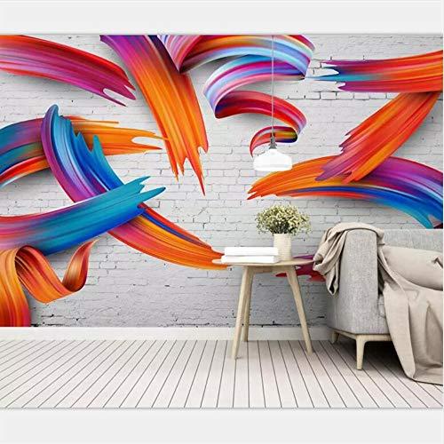 Shuangklei behang. Behang maatspecifieke grote hoogwaardige Scandinavische eenvoudige abstracte geometrische lijnen met 3D-persoonlijkheid. 400 x 280 cm.