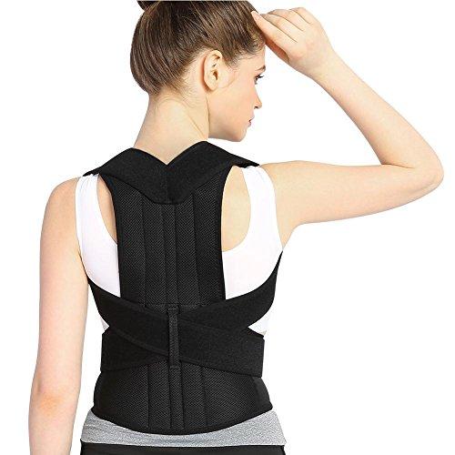 Correttore di postura del tutore posteriore per donne e uomini, correttore di postura regolabile lombare per migliorare la...
