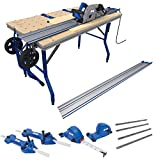 Kreg ACS3000 Adaptive Cutting System Super Kit Plunge Saw 2 62' Guide Tracks, Track Connectors, Rip Guides, Parallel Guides & Project Table (SUPERKIT)