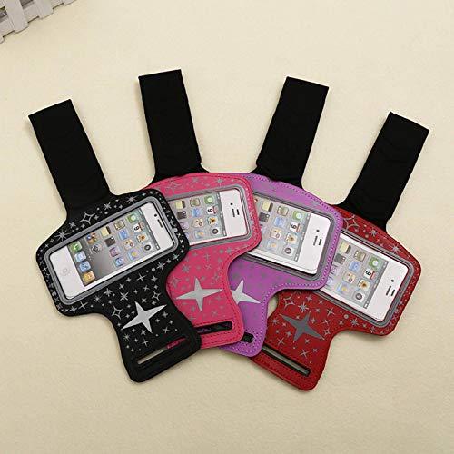 Night Running Arm Bolsa para teléfono móvil para teléfono móvil Brazo para teléfono móvil Apple con bolsa para brazo La bolsa para teléfono móvil con pantalla táctil es adecuada menos de 5,5 pulgadas