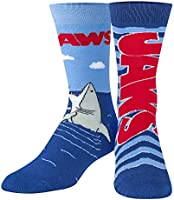 Odd Sox, Unisex, Movies, Jaws Killer Shark, Crew Socks, Novelty Cool Crazy 80s