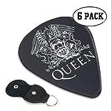 Queen John Deacon ギターピック 6枚/セット ウクレレ エレキギター 3種厚さ プリントデザイン 大人気 目立ち バリ無し 尖らず