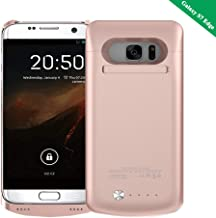 Idealforce Samsung Galaxy S7 Edge Battery Case,5200mAh External Power Bank Cover Portable Charger Protective Charging Case for Samsung Galaxy S7 Edge (Rose Gold)