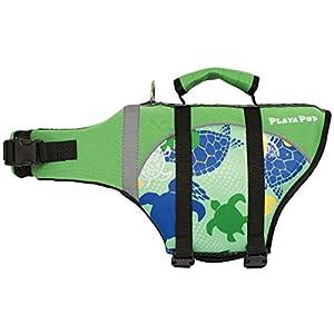 PlayaPup Dog Life Jacket, Paradise Green Tuga, X-Small