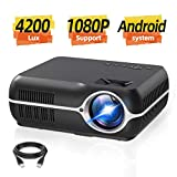Home Video Projector,Portable Android 6.0 Wireless Home Theater Projector 4200...