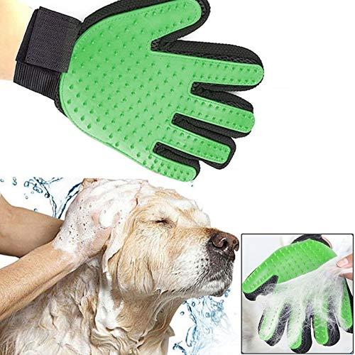 Marketforpet 2-delige Handschoen Borstel Katten & Honden Massage en om het haar te verzamelen en te verwijderen (groen)