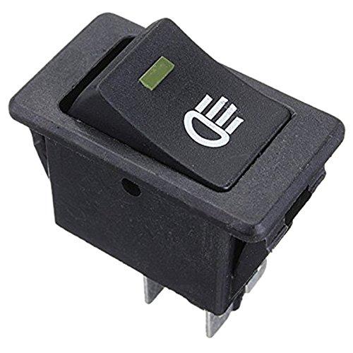 Fransande - Interruptor de luz LED universal antiniebla, 12 V, para coche, amarillo LED