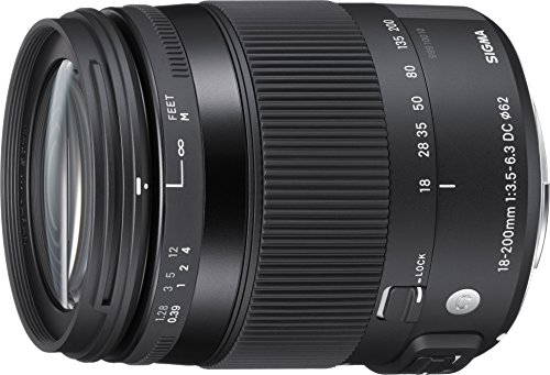 Sigma Contemporary, 18-200mm F3.5-6.3 DC Macro HSM - Objetivo (18-200mm F3.5-6.3 DC Macro HSM, SLR, 16/13, Macro, Sony, 11.1x, 7.07 cm)