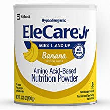 EleCare Jr Nutrition Powder, Complete Nutrition for Children Age 1 and Older with Severe Food Allergies, Amino Acid-Based Nutrition Powder, Chocolate, 14.1 oz, 1 Count