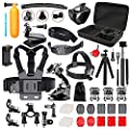 Followsun 52-in-1 Action Camera Accessories Kit for GoPro Hero/Session/Hero 6 5 4 3+ 3 2 1 Campark ACT74 AKASO EK7000 Crosstour APEMAN DBPOWER FITFORT ENEK Acko Lightdow Sony Sports DV and More from Followsun