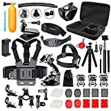 Followsun 52-in-1 Action Camera Accessories Kit for GoPro Hero/Session/Hero 6 5 4 3+ 3 2 1 Campark ACT74 AKASO EK7000 Crosstour APEMAN DBPOWER FITFORT ENEK Acko Lightdow Sony Sports DV and More