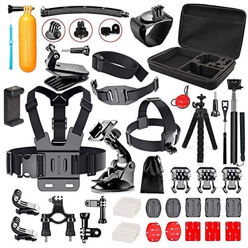 Followsun 52-In-1 Action Camera Accessories Kit for GoPro Hero...
