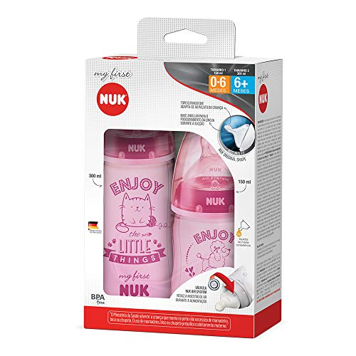 Kit Mamadeira My 1st S1 150 ml S2 300 ml Girl - NUK, Rosa