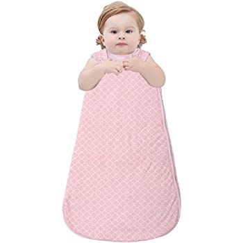 Baby Sleeping Bag Soft Warm Baby Sleeping Sack Wearable Blanket 0 5 Tog Baby Grow Bag Swaddle Wrap With Length 73cm For Infant Toddler 3 To 15 Months Pink Amazon Co Uk Baby