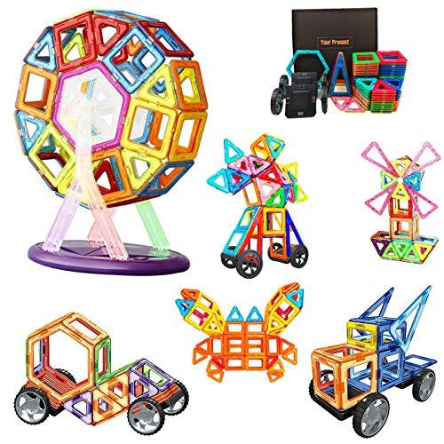 Morkka Magnetische Bausteine Teile Magnete Bauklötze Konstruktion Blöcke Pädagogisches Spielzeug Set Kreative Spielzeugauto Tolles (82pcs)