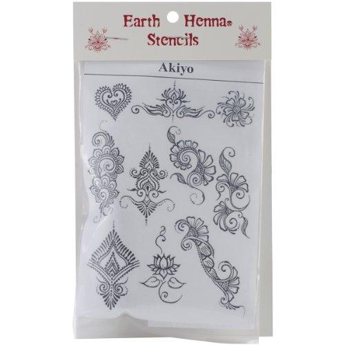 Earth Henna per trasferimento Stencil Akyio Henna pezzi, motivi diversi
