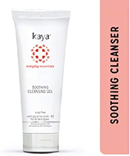 Kaya Clinic Soothing Cleansing Gel, White, Soap free & gentle face wash for everyday use, 50 ml