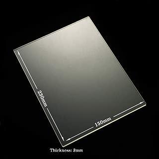 230mm x 150mm x 3mm Borosilicate Glass Plate for Flashforge Creator & Makerbot Replicator 3D Printer Glass Bed (2 30x150x3mm Square)