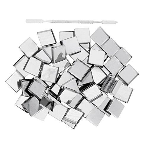 Sharplace 100x Pans Casserole pour Palette Magnétique Palette de Maquillage de Fard à Paupières Blush Vide + Spatule - Carré
