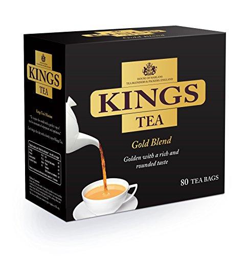 KINGS TEA, Gold, 80 Tea Bags