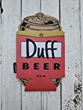 Duff Beer Homer Simpson Hilarious Can Cooler Coozie Football Party Favor Game Night Beverage Insulator Beer Coozie Great Gift DUFKOOZ