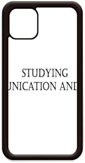 Quote Studying Communication and Media for iPhone 12 Pro Max Cover for Apple Mini Mobile Case Shell