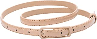 Womens Faux Leather Skinny Belts for Dresses