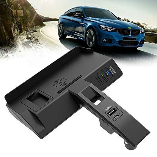 AWYLL Cargador inalámbrico para automóvil para BMW (2020-2021) Nuevo Serie 3 / Serie 4 Todos los Modelos, Cargador de teléfono de Carga rápida de 15 W para iPhone 12 Pro MAX Mini 11, Galaxy S20 / S10