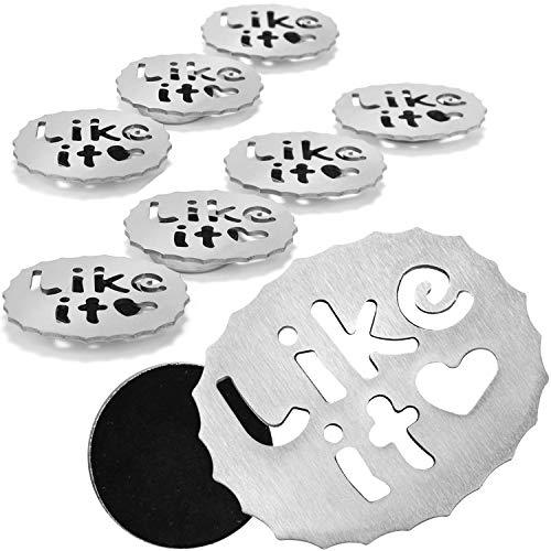COM-FOUR® 8x Tafelkleedgewicht - tafelkleedgewichten van roestvrij staal - magnetische tafelkleedklem - 49 g