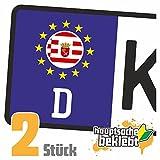 Bremen Kennzeichen Aufkleber Sticker Nummernschild Land Country Nation