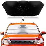 Parasol Coche Delantero, Parasol para Parabrisas de Coche, Parasol Reflectante, Parabrisas Delantero para Coche, protección Solar UV, 140×79cm